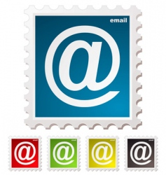 Email stamp vector