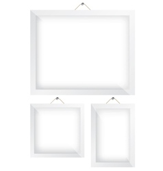 Frame white vector image vector image