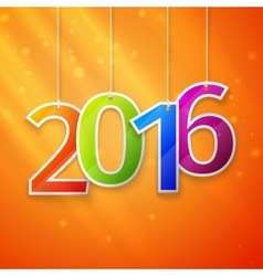 Happy New Year card Paper 2016 Text Design vector image vector image