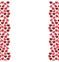 Hearts love frame seamless pattern design vector