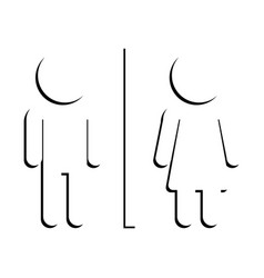 man an women sign shadow icon vector image