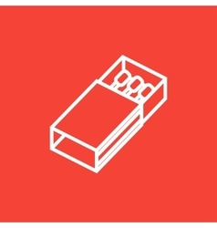 Matchbox line icon vector image vector image