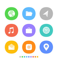 modern smartphone icons set different color web vector image vector image