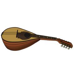 Old italy mandolin vector