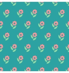 Ornate simple beauty flower seamless pattern vector image