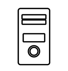 Personal computer isolated line icon vector