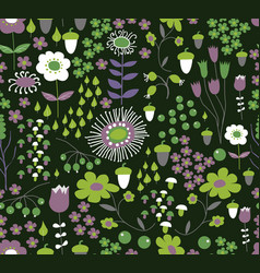 Seamless flower background vector
