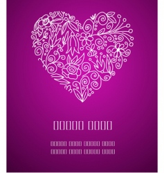 valentine greetings vector image vector image