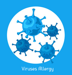 viruses allergy for medical vector image vector image