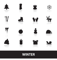 Winter icons eps10 vector