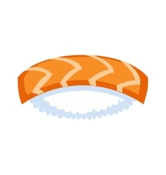 Sushi food isolated vector