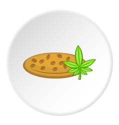 Marijuana seeds icon cartoon style vector