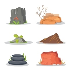 Garden rocks and stones single or piled for damage vector