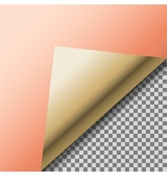 Folded up copper foil blank note paper vector