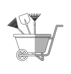 Gardening equipment design vector