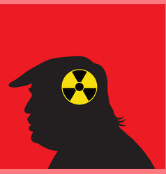 Donald trump and nuclear silhouette vector