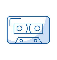 Audio cassette tape vector