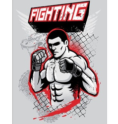 Mma fighter design vector