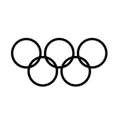 Olympic rings black color icon vector