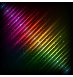 Rainbow neon diagonal equalizer vector image