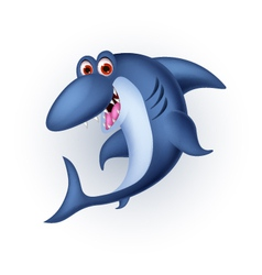shark cartoon smiling vector image