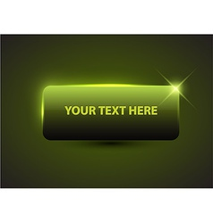 Big green button with sample text vector