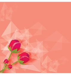 Valentines floral background vector