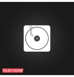 Turntable dj icon vector
