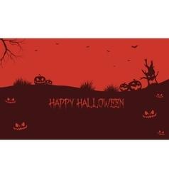 Pumpkins backgrounds halloween silhouette vector