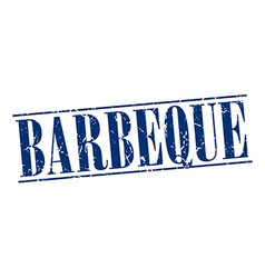 barbeque blue grunge vintage stamp isolated on vector image vector image