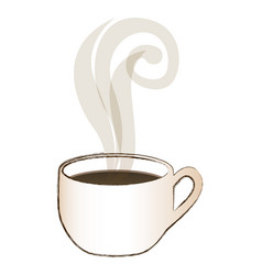 blurred image color with hot cup of coffee vector image vector image