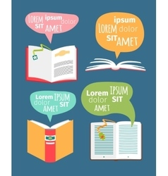 books with speech bubbles vector image