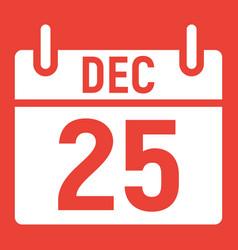 christmas calendar glyph icon christmas vector image vector image