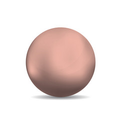 Copper spheres or ball vector