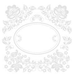 Elegant decorative khokhloma postcard frame vector image vector image