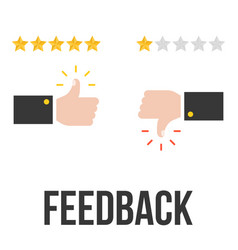 feedback concept with thump up vector image