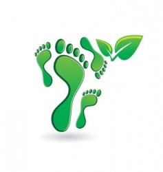 footprint icon vector image vector image