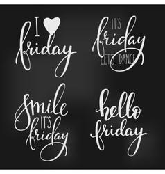 Friday lettering set vector