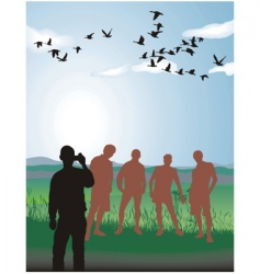 Friends in nature vector