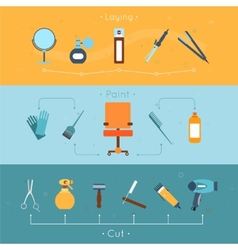 Hairdresser banner set vector image
