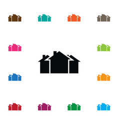 Isolated property icon domicile element vector