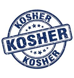 Kosher blue grunge round vintage rubber stamp vector