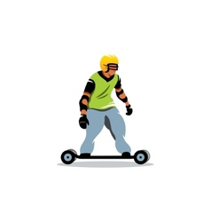Mountainboard sign vector image vector image