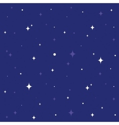 Night sky seamless cartoon pattern vector image vector image