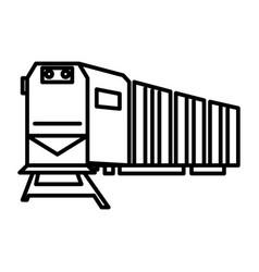railway logisticstraincargo line icon vector image vector image
