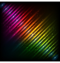 Rainbow neon diagonal equalizer vector image
