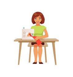 seamstress housewife vector image