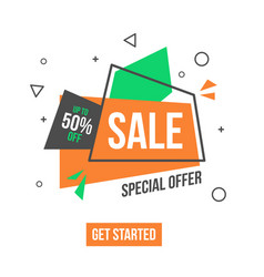 special offer banner in flat style vector image vector image