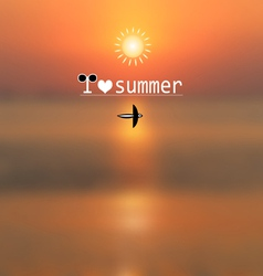 Summer background with text vector