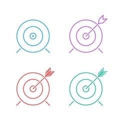 target icon set vector image vector image